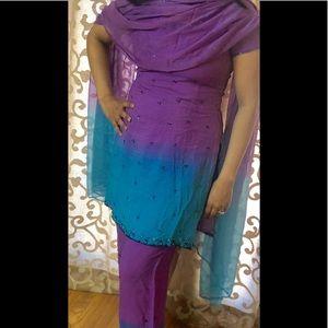 🎉sale Gorgeous Indian palazzo pant suit w/Dupatta